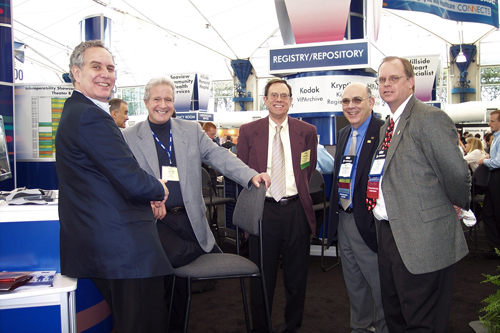 A successful 2006 IHE-PCD showcase, left to right, Elliot Sloane, Jack Harrington, Manny Furst, Ray Zambuto and Todd Cooper