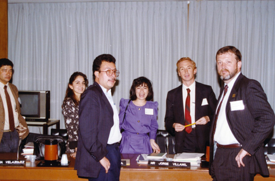 Steve (far right) with other faculty at ACCE/WHO/PAHO's first Advanced Clinical Engineering Workshop (ACEW) held in DC in 1991
