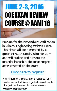 CCE Exam Review Course @ AAMI16
